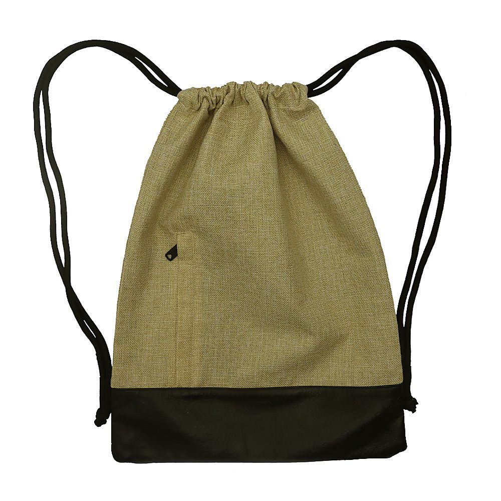 Jute Drawstring Backpack