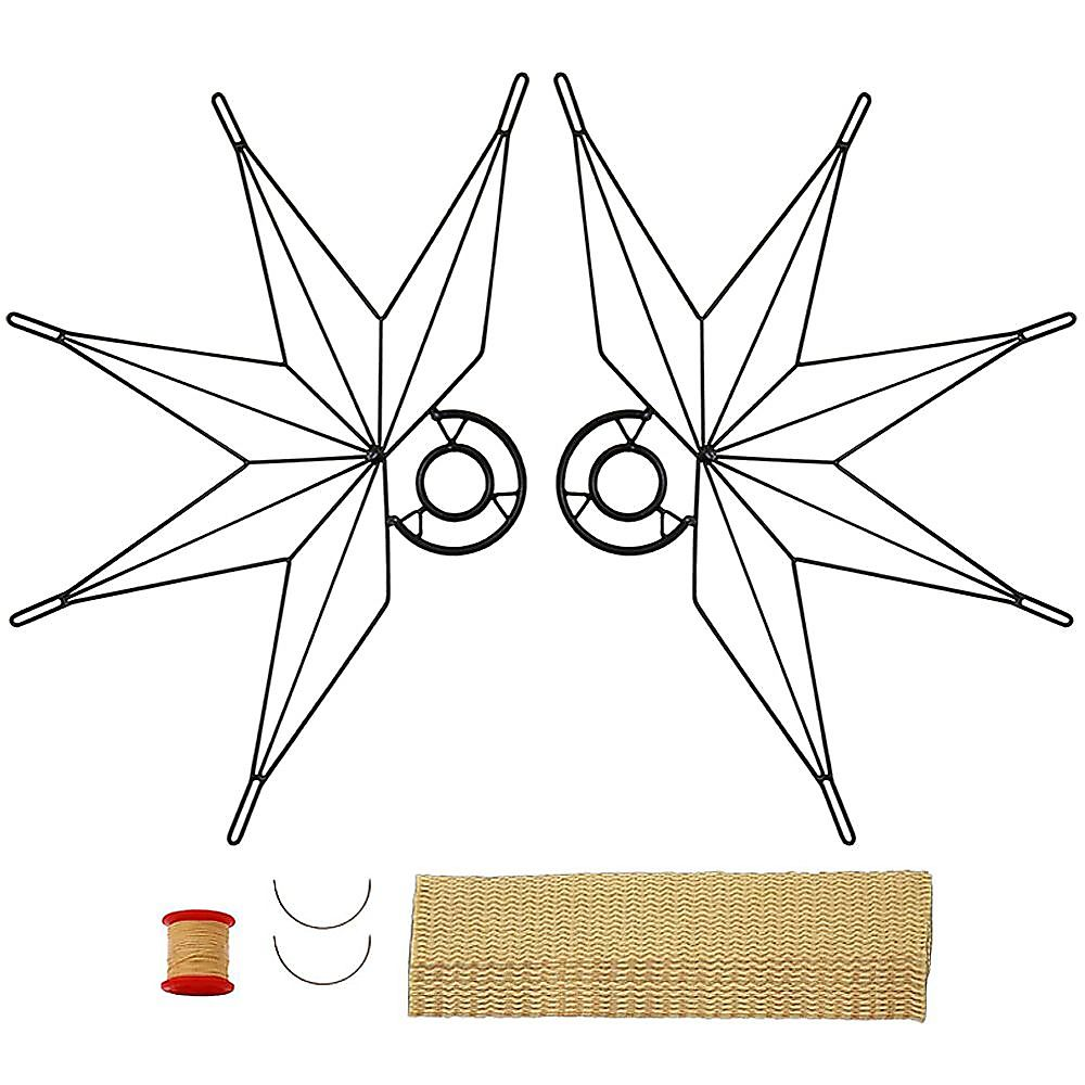 Pair of Nautical Fire Fans with 2inch Wick Kit - Make Your Own
