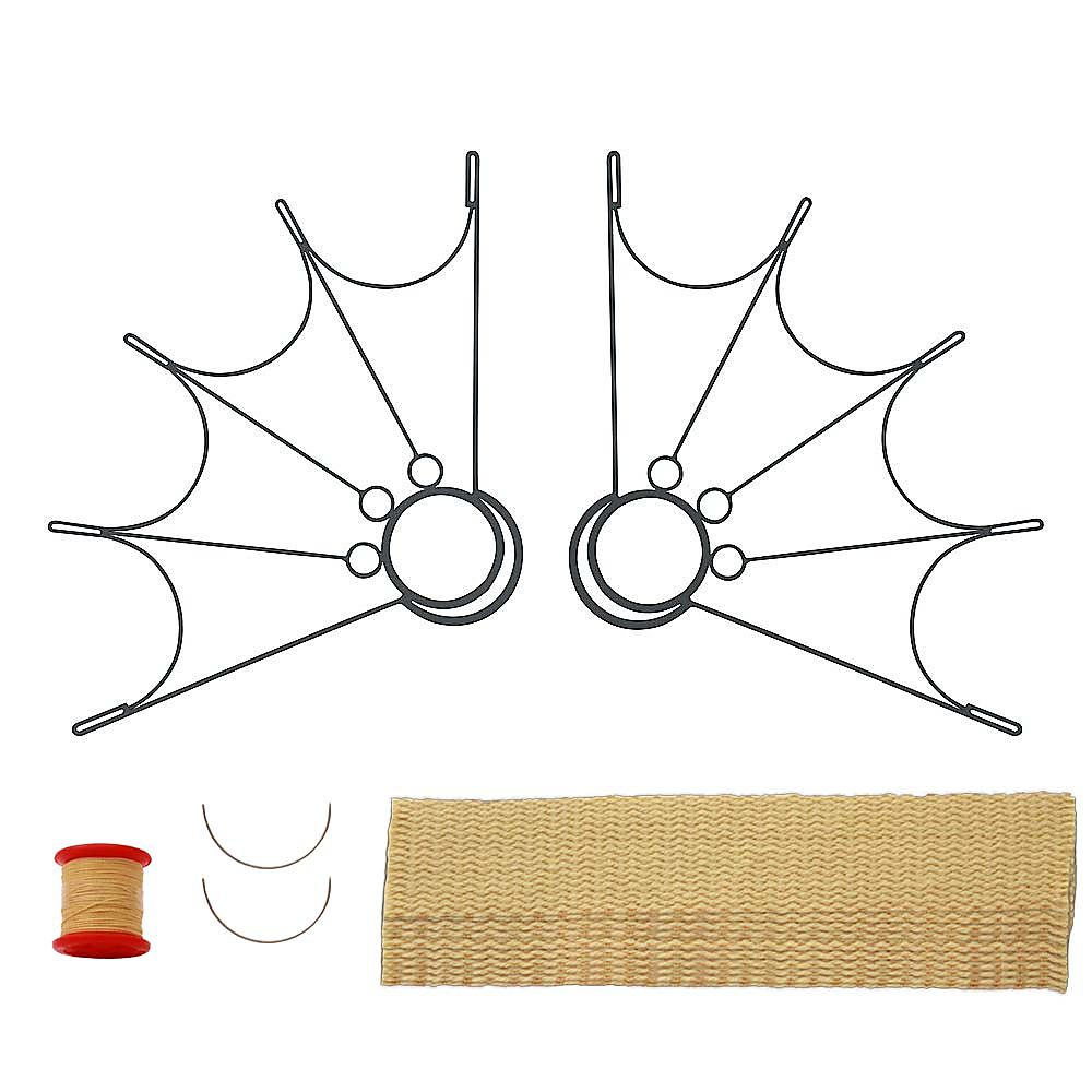 Pair of Spider Fire Fans 2inch Wick Kit - Make Your Own
