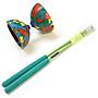 Multicolor with Green Handsticks
