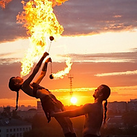 Belarusian Firebreathing Sunset