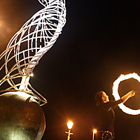 FirePoise with Hoop Lady, Belfast