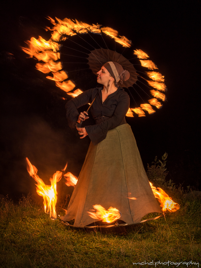 romantic fire ....