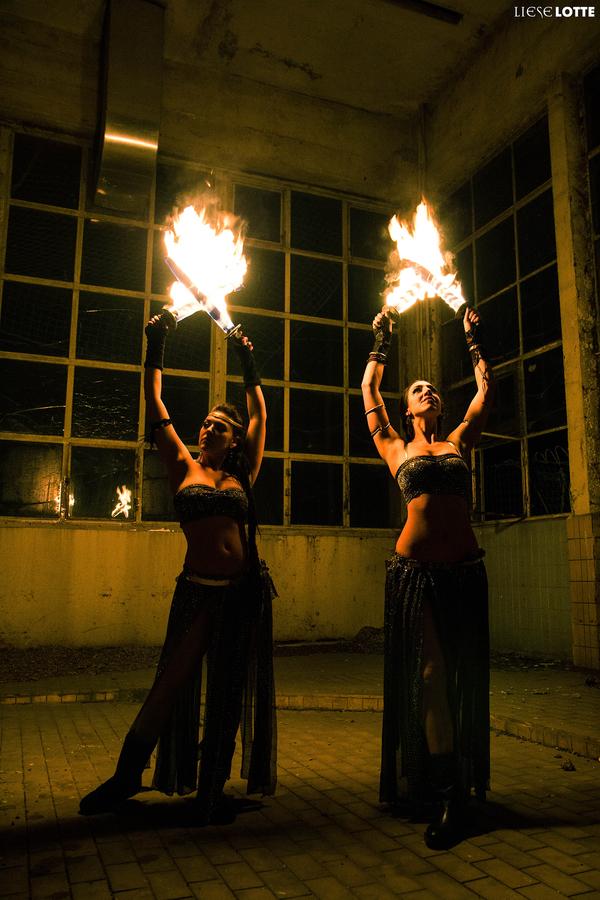 bellydance on fire