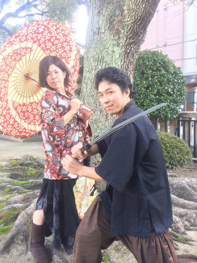 Katana and umbrella