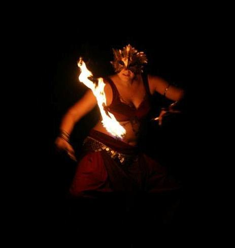 Mask and flame