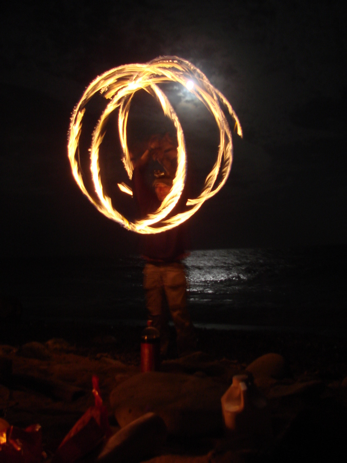 Fire Moon and Ocean