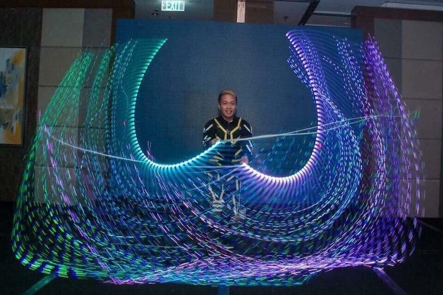 Alab Poi dancers Fiber whip