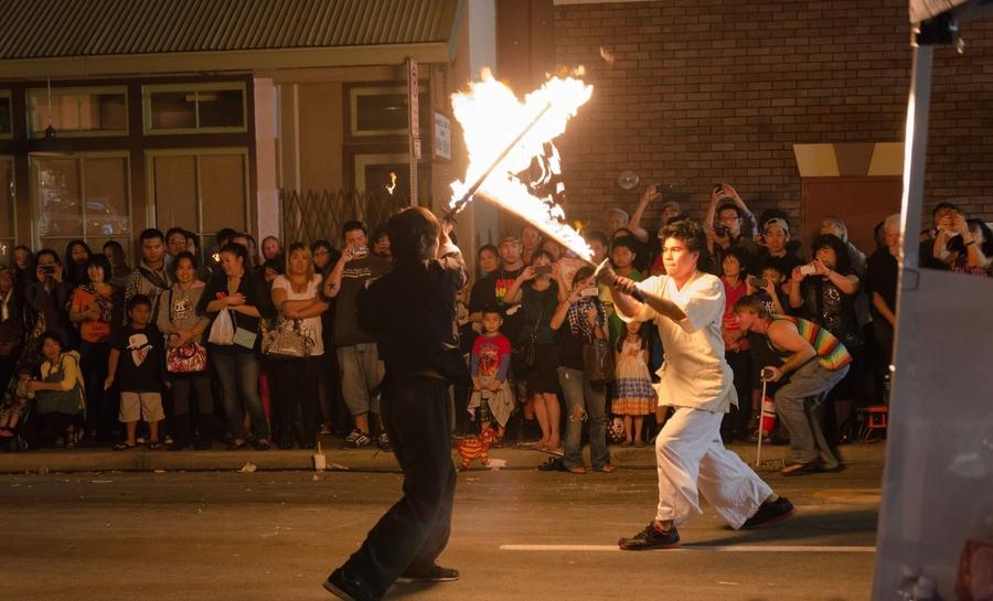 Fire sword Battle
