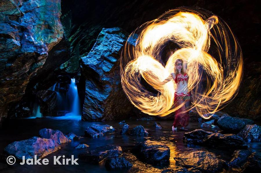 Fire Goddess in Cave
