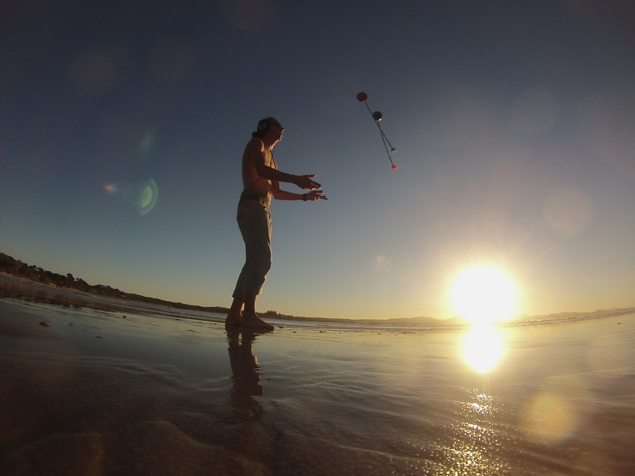 Poi sunset at byron bay  australia uploaded by moostic