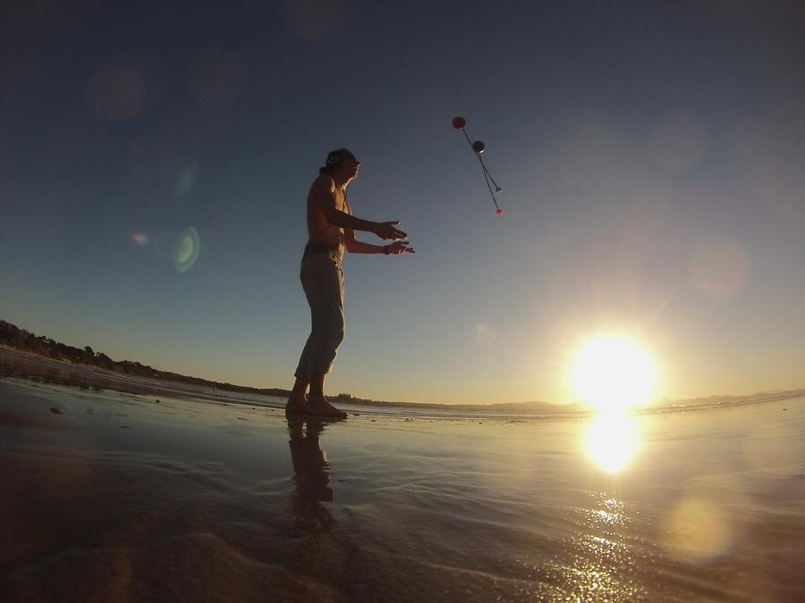 Poi sunset at byron bay  australia
