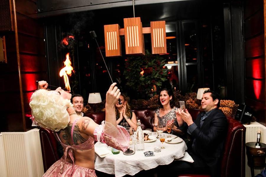 Marie Antoinette Fire Eating Dinner Party