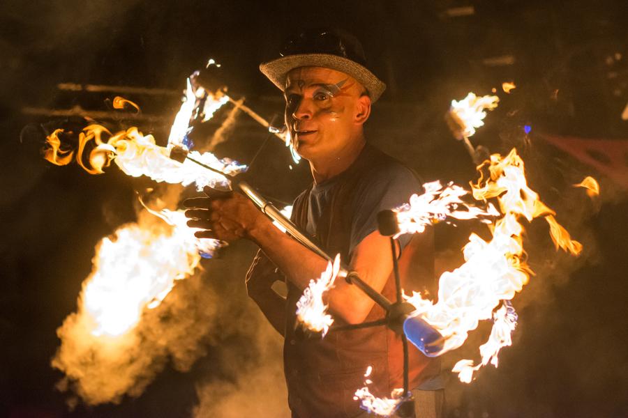 Die Nordlichter Hamburg - Feuershow