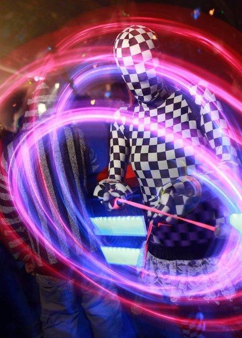 Checkered Lycra!