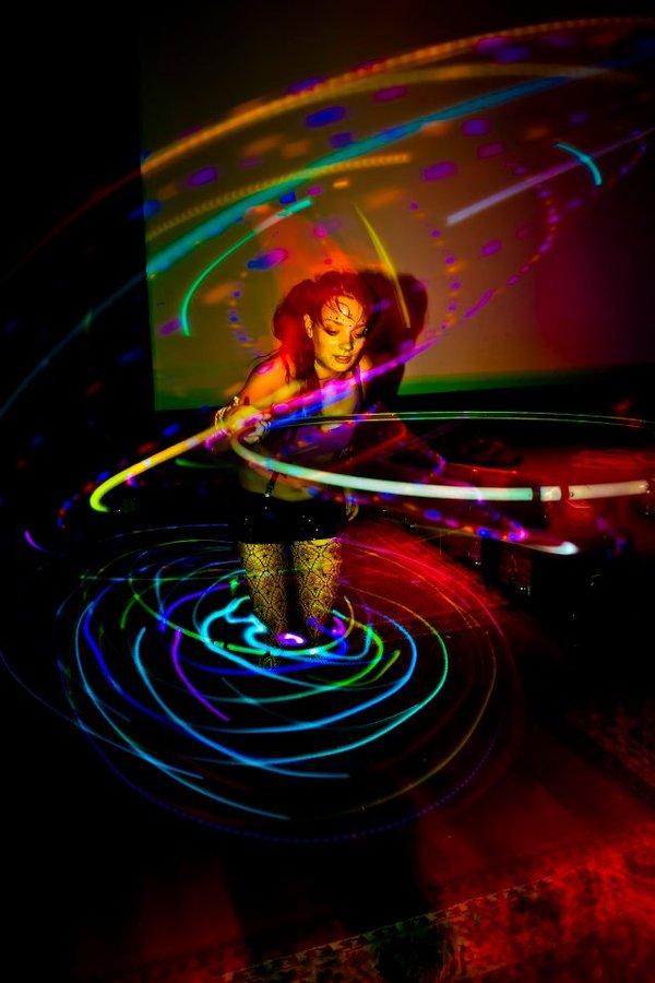 Double LED Hoop Love