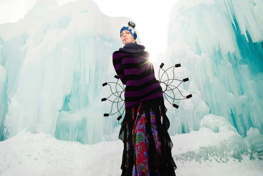 Fire Faerie in the Ice Castle
