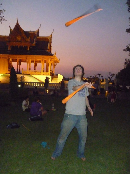 Throwing my poi in thailand