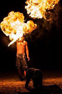 Back spin Flame balls :D