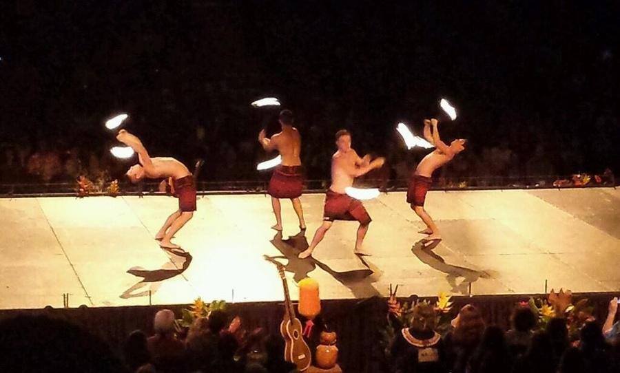 Choreographed Fire Poi Routine