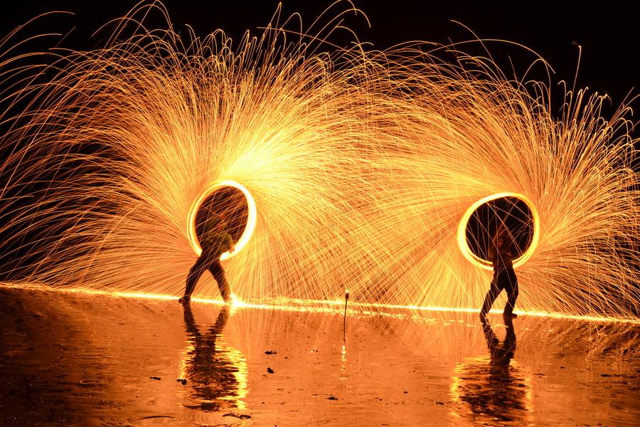 Pembrokeshire Fire Spinners - Fire Ninjas