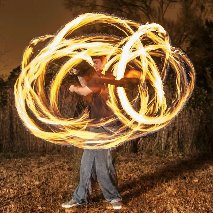 Monkey Fist Fire Poi