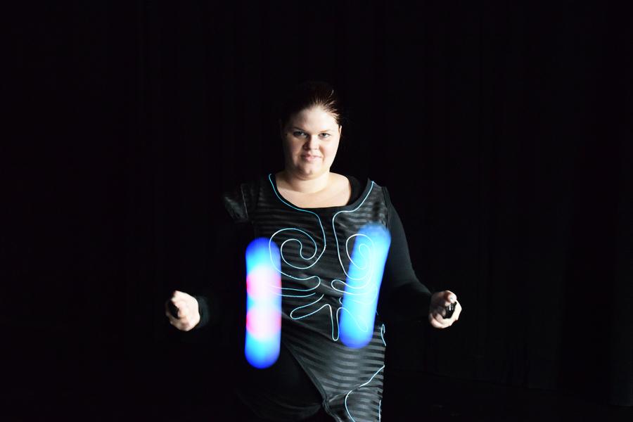 Glow Poi + Glow Suit