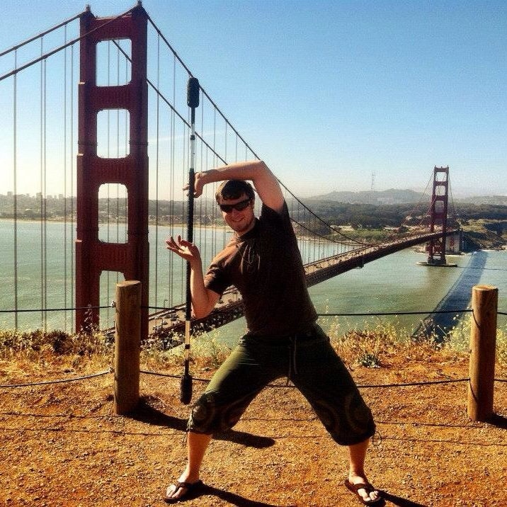 Staff spinning at Golden Gate Bridge Overlook
