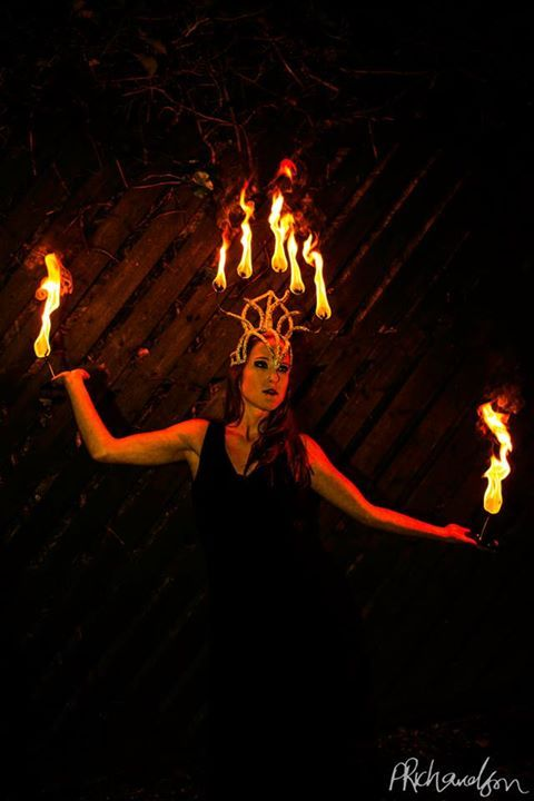 Fire Headdress and Palms