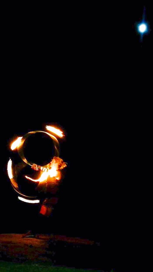 Blood Moon Double Fire Hooping Love