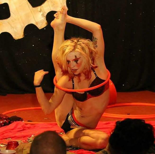 mini hoop contortion.