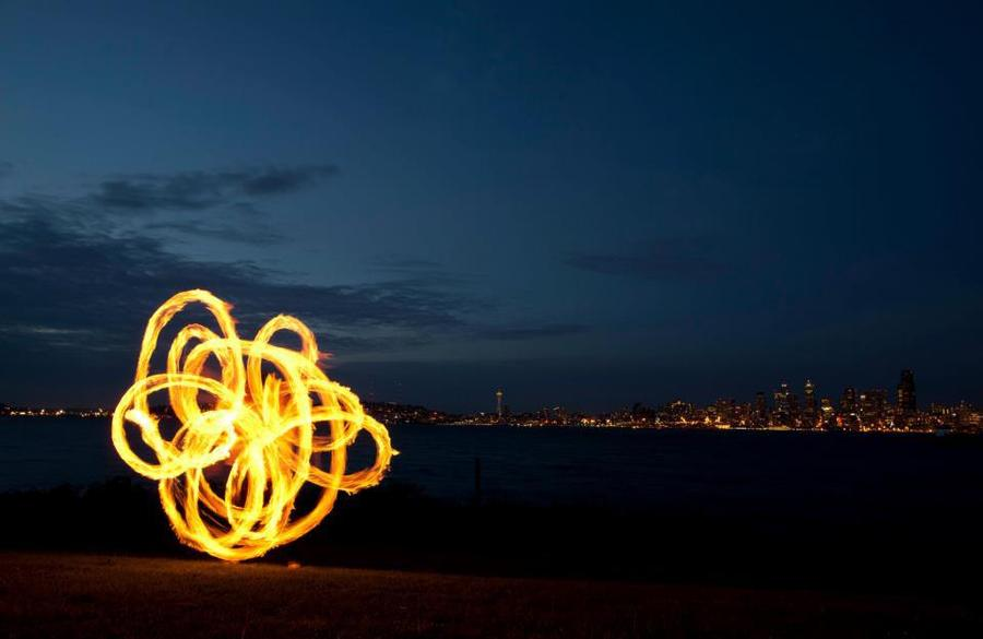 Seattle Waterfront Fire Poi