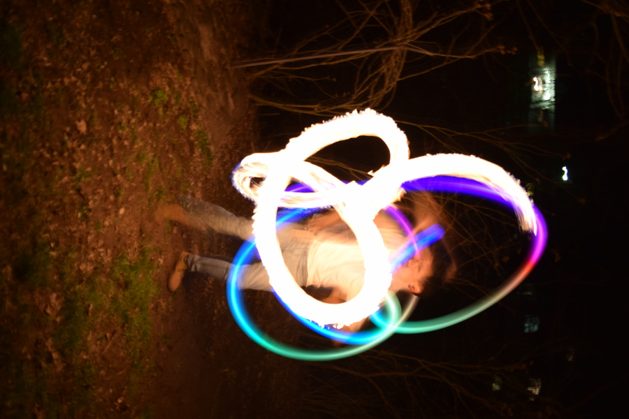 led and fire poi