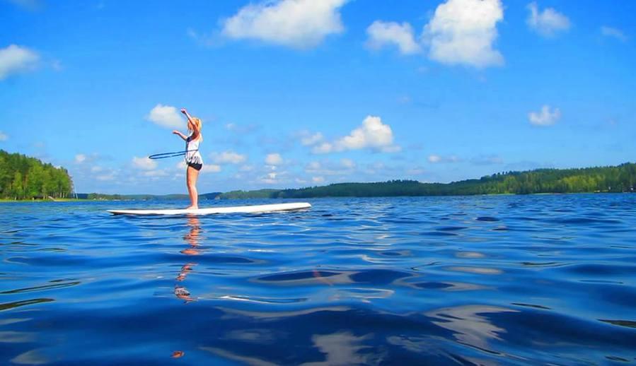 Surf Hooping at lake Saimaa