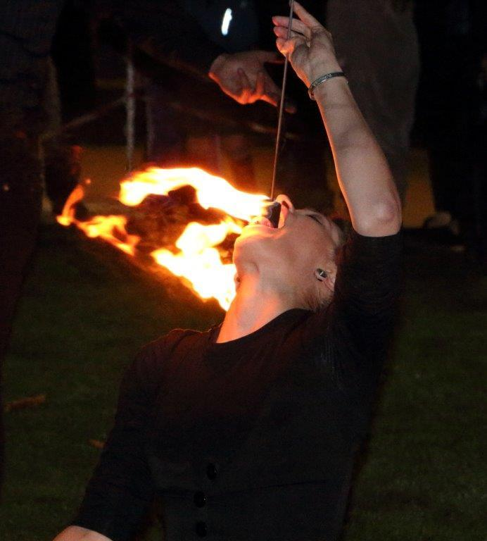 Charity Fire eating