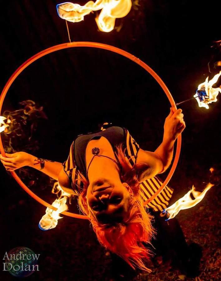 Backbend Fire Hoop!