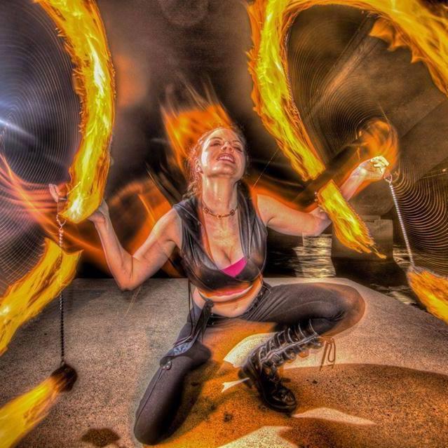 Fire Dancer Desert Flower