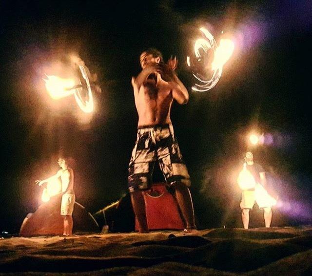 Gragon staff, poi and torches