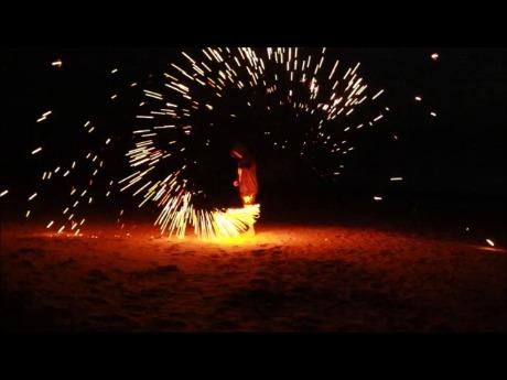 Beach fire play
