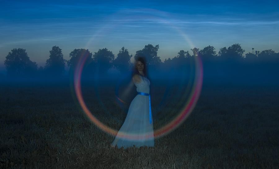Fairy in the white night
