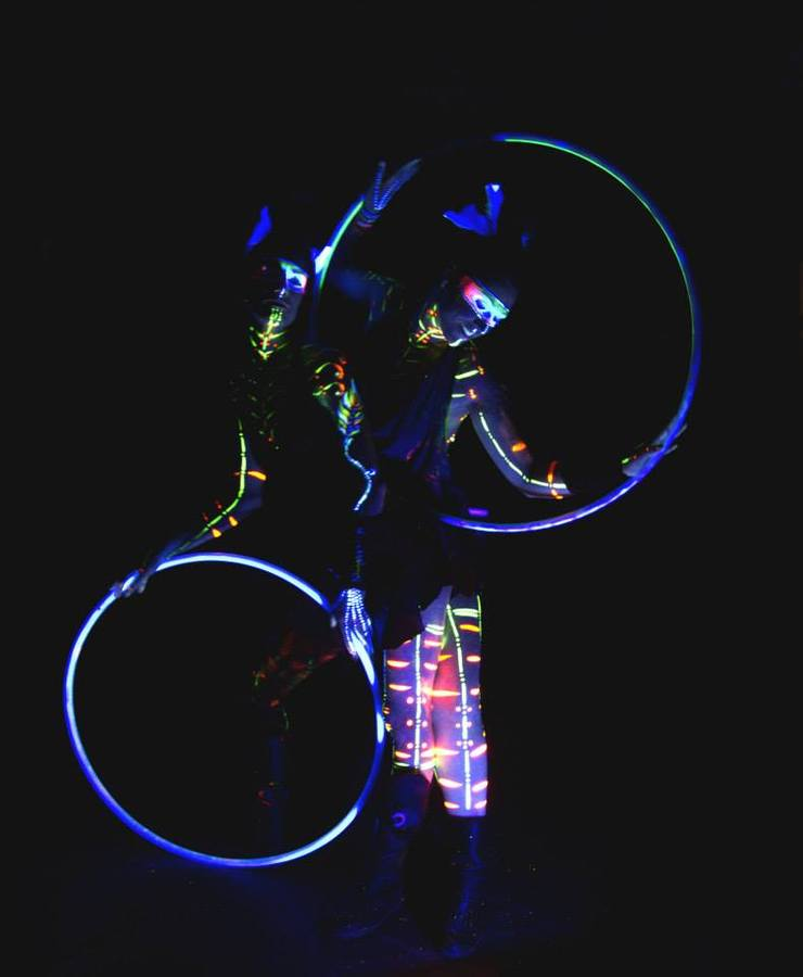 FLUO & LED COMBO HOOP