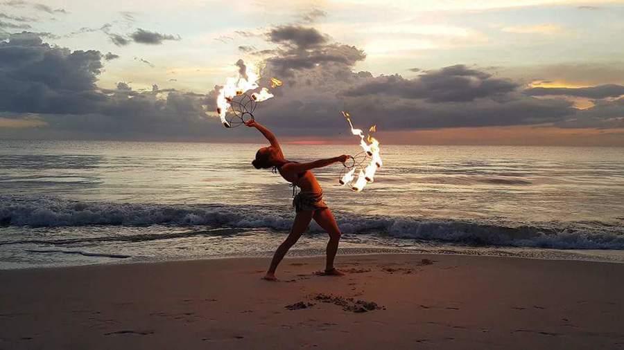 Sunset beach burn