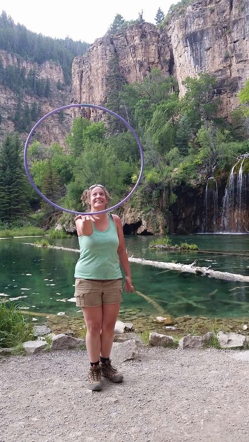 In balance at Hanging Lake Colorado