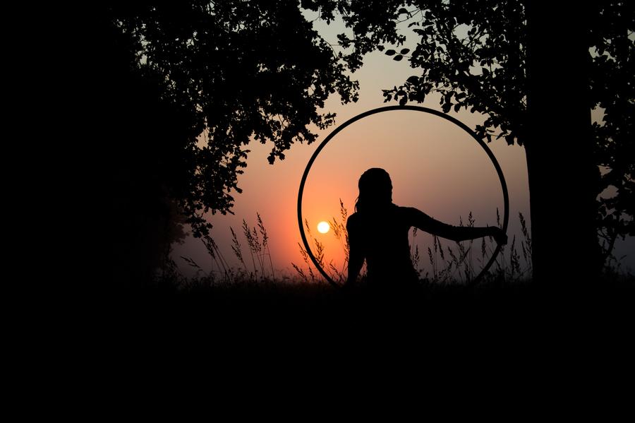 Sunrise me and my hula hoop