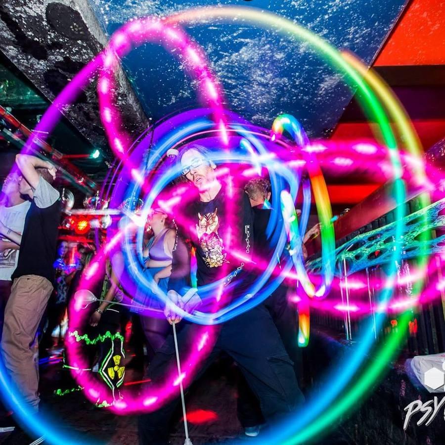 Spinning at Psy Candy.  Sydney