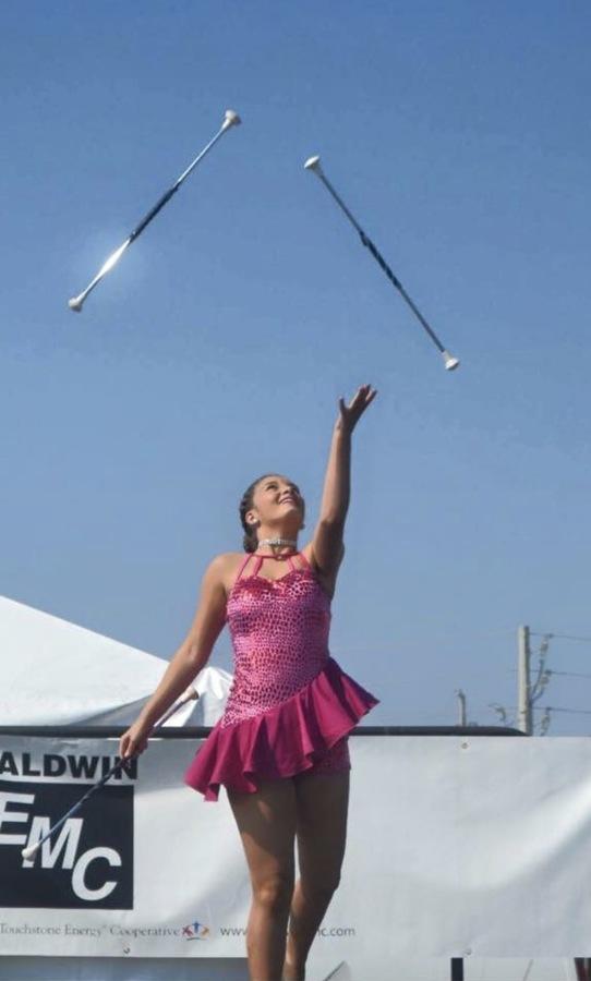 Madee juggling