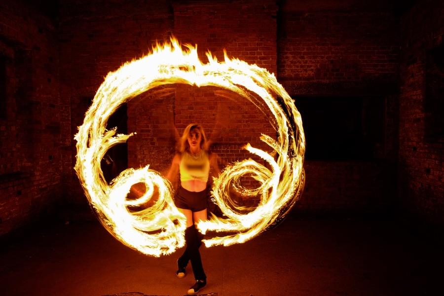 Mia on Fire