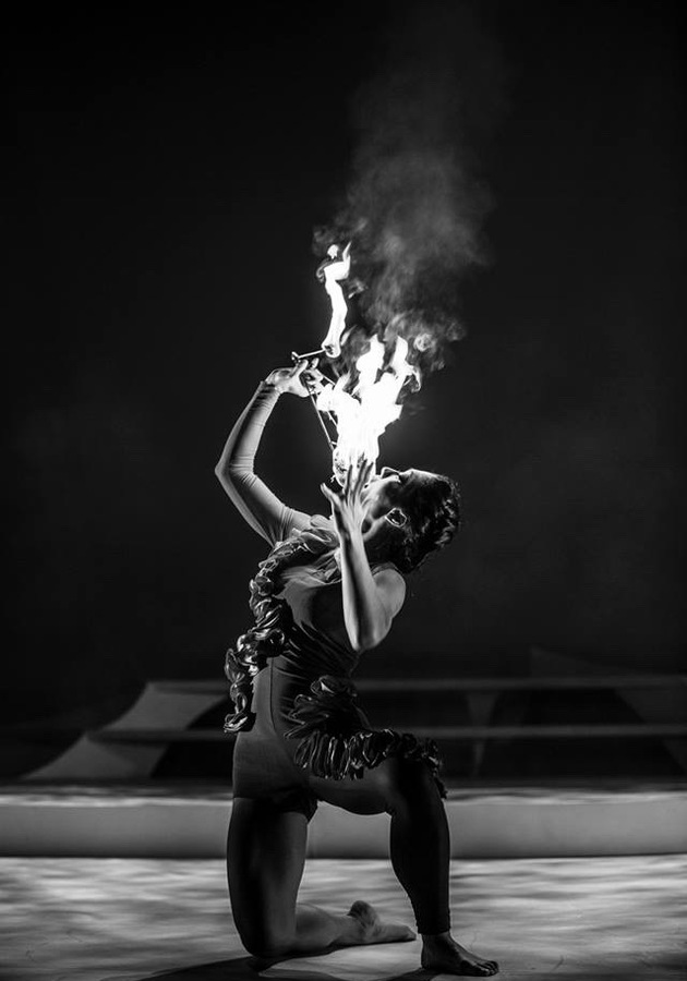 A moment kissing the fire