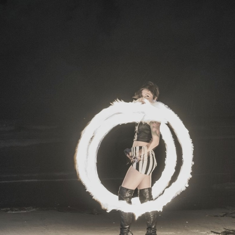She dances in the ring of fire...