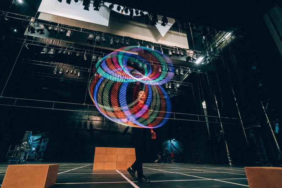 LED Hoop on Stage